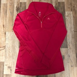 Adidas Workout Pullover with 3/4 Zipper